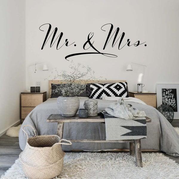 Samolepka na zeď Mr. and Mrs., 70x50 cm