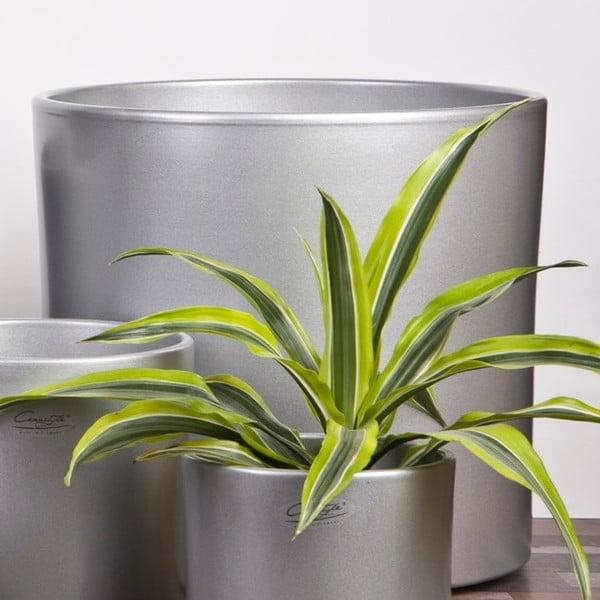 Květináč Ovale stříbrný, 23 cm