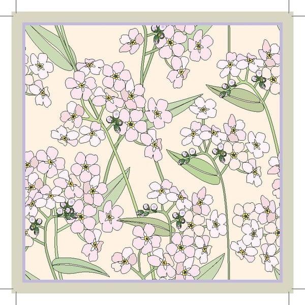 Sada 2 prostírání Spring Flower, 20x20 cm