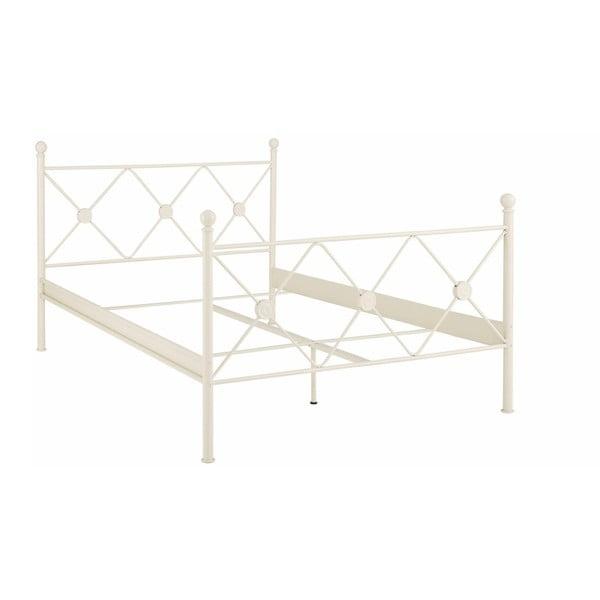 Bílá kovová postel Støraa Johnson, 140x200cm