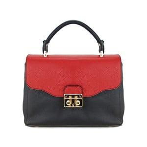 Kožená kabelka Cherie Nero/Rosso