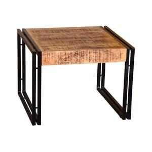 Odkládací stolek z mangového dřeva a kovu VIDA Living Orleans