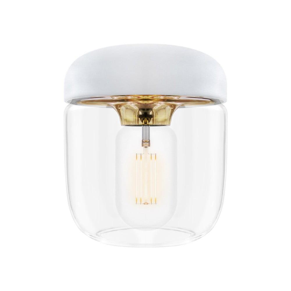 Bílé stínidlo s objímkou zlaté barvy VITA Copenhagen Acorn, Ø 14 cm