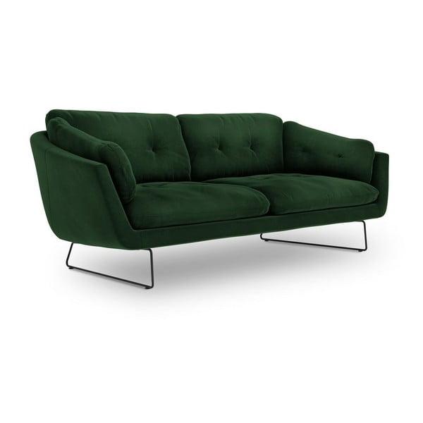 Lahvově zelená třímístná pohovka se sametovým potahem Windsor & Co Sofas Gravity