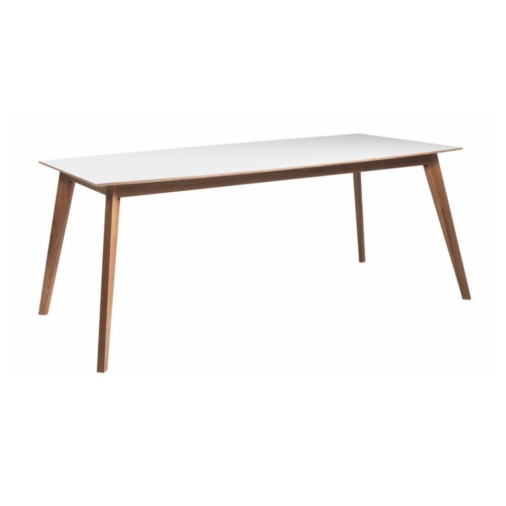 Bílý dubový jídelní stůl Folke Ehcidna