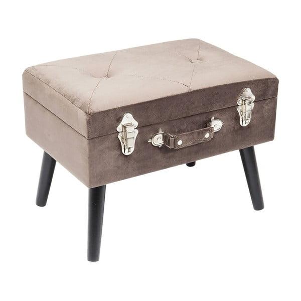Šedá stolička Kare Design Suitcase