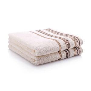 Sada dvou ručníků Hugo 50x90 cm, cream