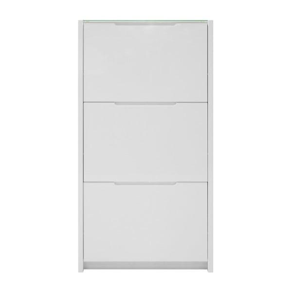 Bílý botník Actona Berlin, 65,5 x 121,6 cm