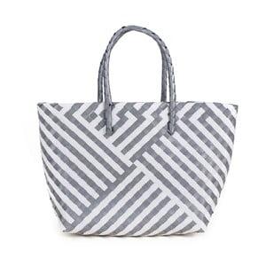 Bílo-šedá plážová taška Art of Polo Chris