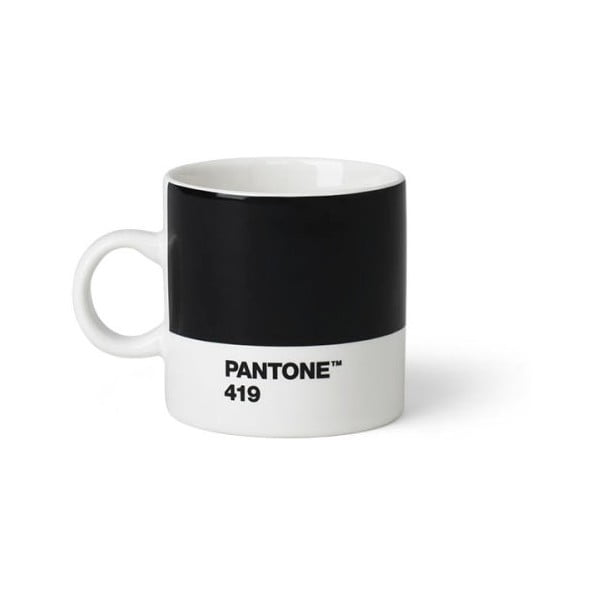 Cană Pantone Espresso, 120 ml, negru