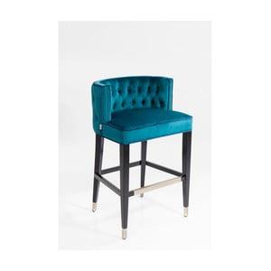 Barová židle s modrým potahem a nohami z bukového dřeva Kare Design