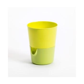 Ghiveci cu sistem de auto-irigare Plastia Rosmarin, verde-galben imagine