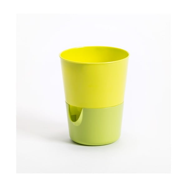 Ghiveci cu sistem de auto-irigare Plastia Rosmarin, verde-galben