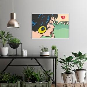Obraz na plátně OrangeWallz Pop Art Cry, 60 x 90 cm