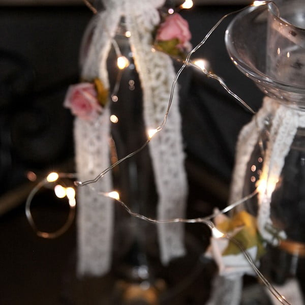 Světelný řetěz Light 110 cm, bílý