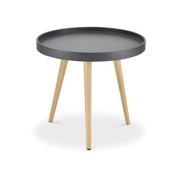 Măsuță de cafea cu picioare din lemn de fag Furnhouse Opus, Ø 50 cm, gri