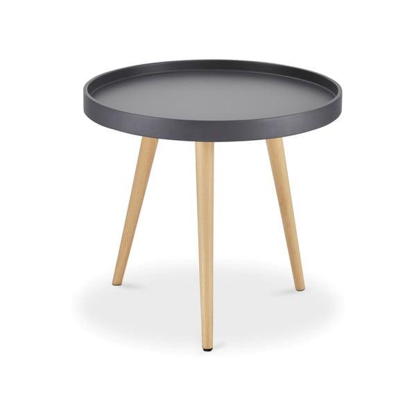 Šedý konferenční stolek s nohami z bukového dřeva Furnhouse Opus, Ø50cm