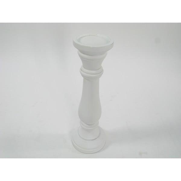 Dřevěný svícen White Nature, 38 cm