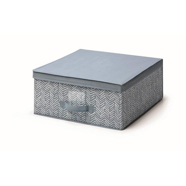 Modrý úložný box s víkem Cosatto Tweed, šířka45cm