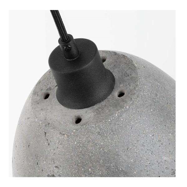 Závěsné betonové svítidlo Citylights Malaga, ⌀21cm