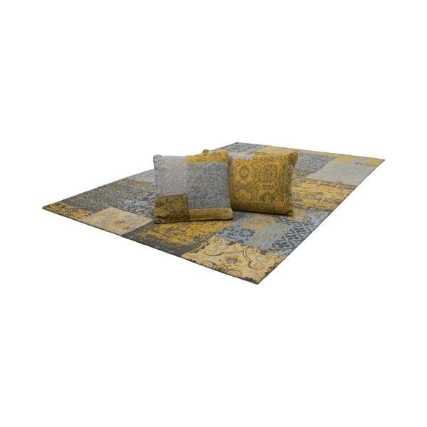 Polštář Jacquard Gold, 45x45 cm