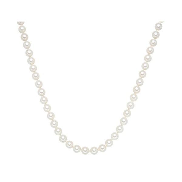 Náhrdelník s bílými perlami Perldesse Muschel, ⌀0,8xdélka50cm