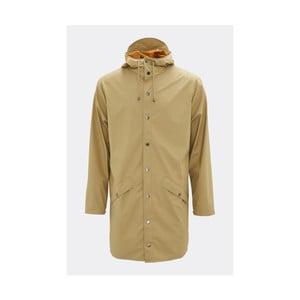 Béžová unisex bunda s vysokou voděodolností Rains Long Jacket, velikost L/XL
