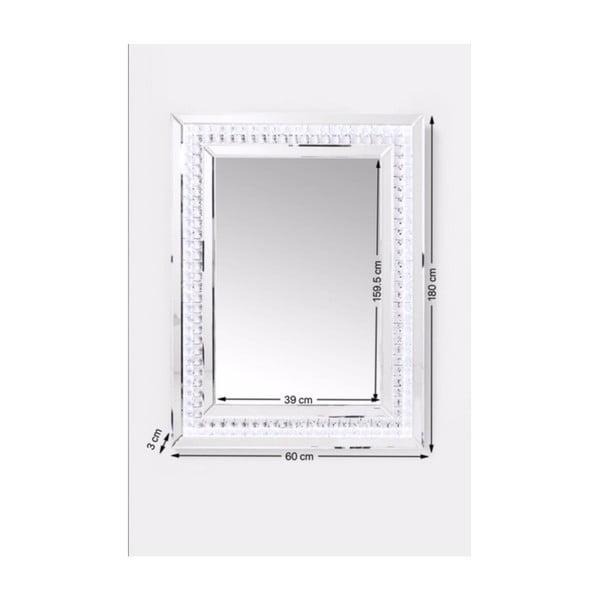 Nástěnné zrcadlo Kare Design Crystals LED, 80x60cm