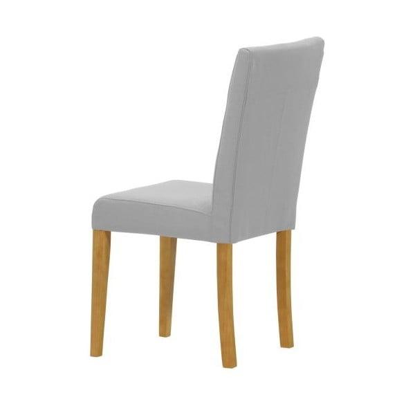 Sada 2 židlí Monako Etna Grey, přírodní nohy