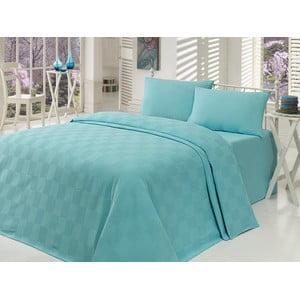 Lehký přehoz přes postel Kare Mint, 200x235cm