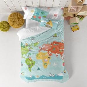 Dětské povlečení z čisté bavlny Happynois World Map, 140x200cm