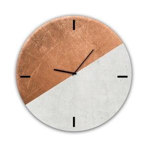 Skleněné nástěnné hodiny Styler Half Coper
