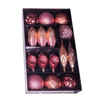Set 16 decorațiuni de Crăciun Unimasa Surtidas, roz imagine