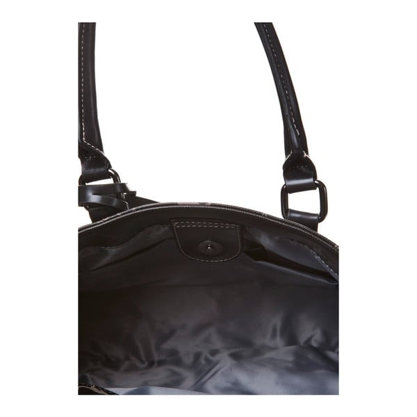 Kožená kabelka do ruky Canguru Tag, černá