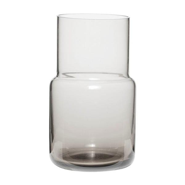 Šedá skleněná váza Hübsch Alstromeria