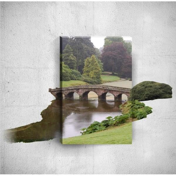 Nástěnný 3D obraz Mosticx Small Bridge, 40 x 60 cm