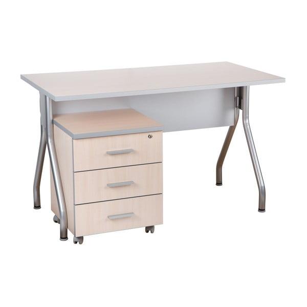 Pracovní stůl v dekoru dubu Milky Manager