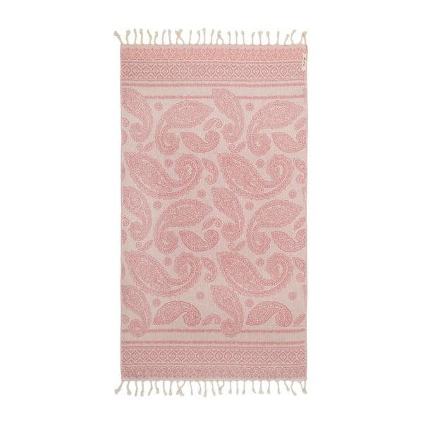 Hammam osuška Paisley, růžová