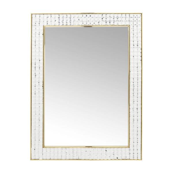 Nástenné zrkadlo Kare Design Crystals Gold, 80 × 60 cm