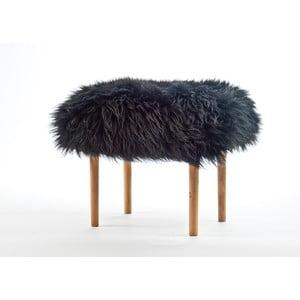 Stolička z ovčí kůže Carys Coal Black