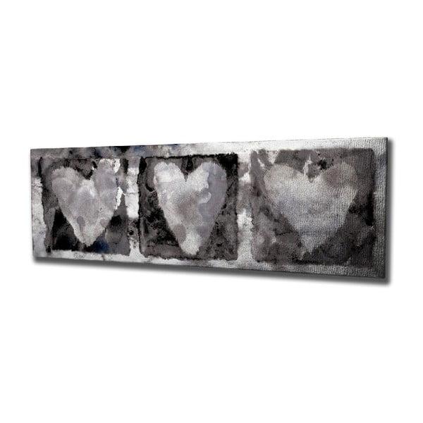 Hearts vászon fali kép, 80 x 30 cm
