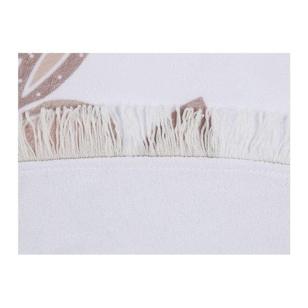 Barevná plážová osuška z bavlny Flora, ⌀ 150 cm