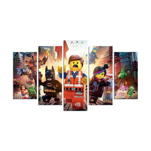 Obraz 5-częściowy Lego