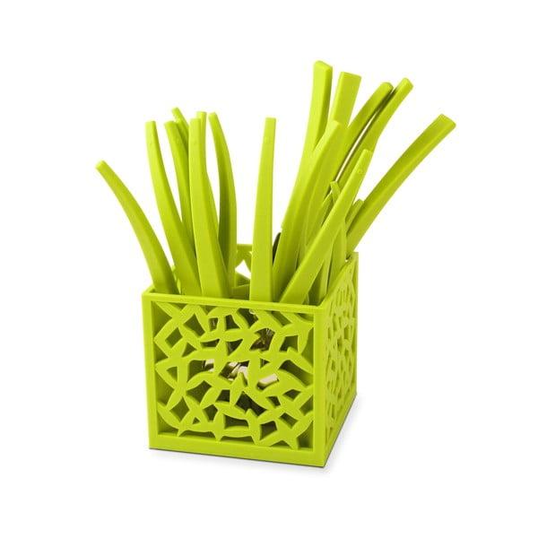 Set 24 tacâmuri cu suport Vialli Design Mia, verde