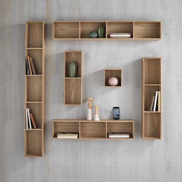 Dřevěná polička s 4 úložnými prostory Tomasucci Billa, 120x15x20cm