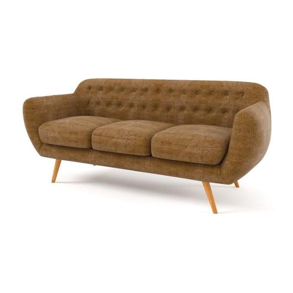 Sofa Indigo pro tři, zlaté