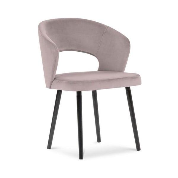 Levandulově fialová jídelní židle se sametovým potahem Windsor & Co Sofas Elpis