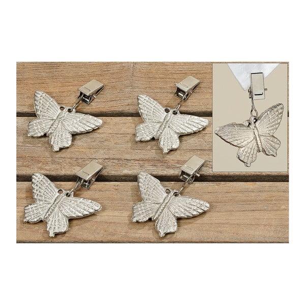 Klipsny na zatížení ubrusu Butterflies, 4 ks