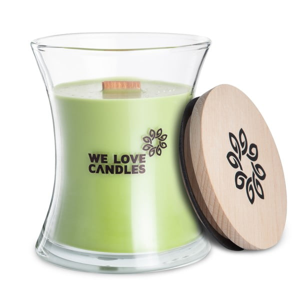 Świeczka z wosku sojowego We Love Candles Green Tea, 129 h