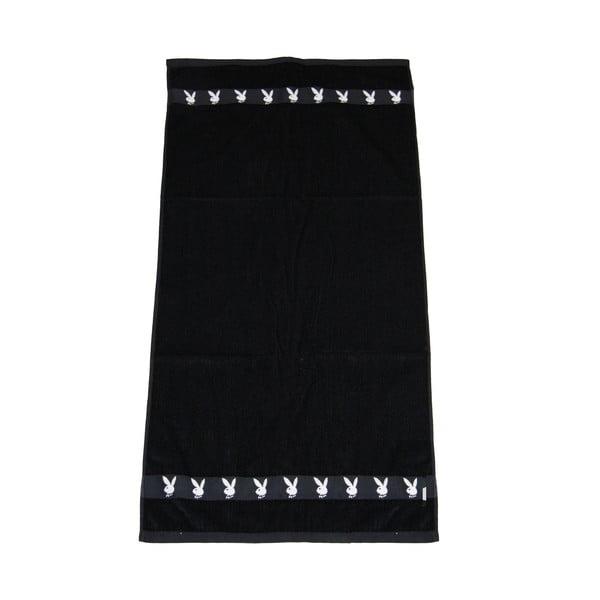 Osuška Playboy Jacquard Black, 50x100 cm